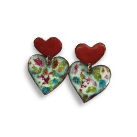 Pendientes corazón con corazón (LT000223)